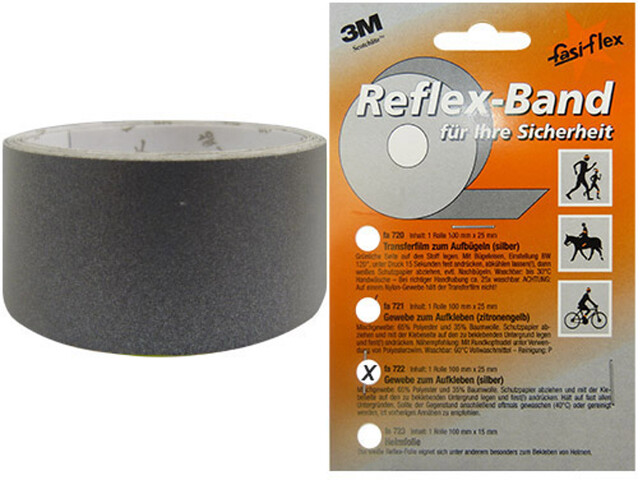 fasi Reflexband Bike Reflector 1m x25mm, self-adhesive silver